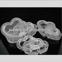 HOT Bulk Heart Shaped Glass box for wedding gifts
