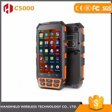 Mass supply top quality wireless handheld bluetooth rfid reader C5000 rugged ip65 handheld barcode scanner