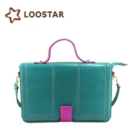 2015 Blue Hot Women Shoulder Bag Lady Girl Adjustable PU Handbag for Sale with Single Strap