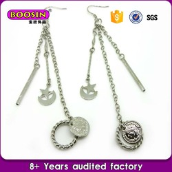 China factory pricesilver metal star jewelry earring bling bling earring