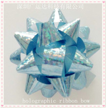Mini Holographic Star Bows for Gift Packing and Box Wrapping
