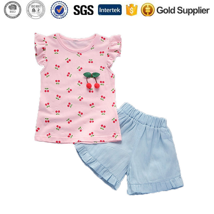 Girls Clothing Sets Tops Shorts Outfits Clothes traditional girls suit