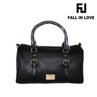 Stocked wholesale PU fashion cheap lady tote handbags,bags for women in black color made in China