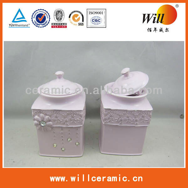 Ceramic Canister in square shape