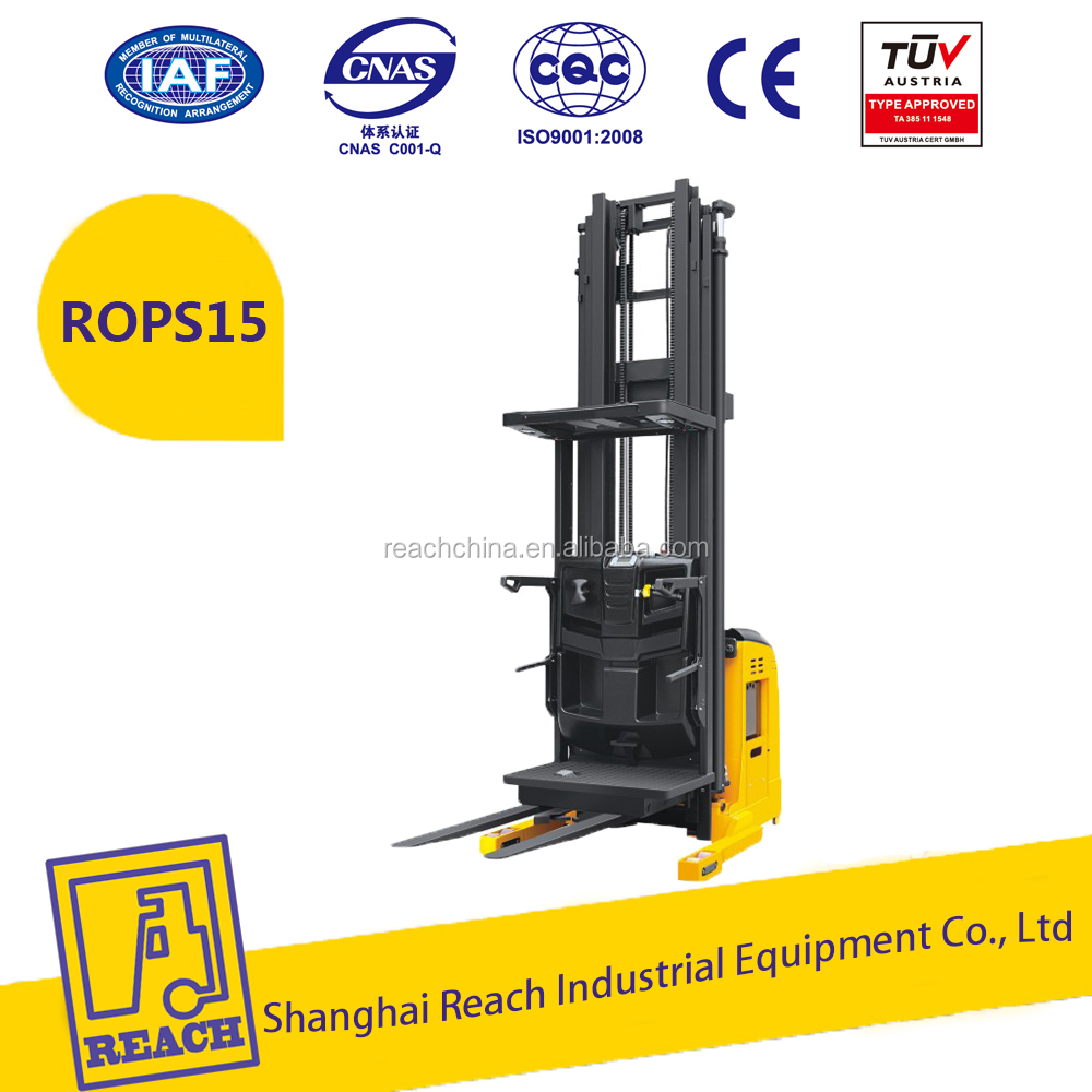 China REACH 1500kg electric pallet stacker/electric order picker