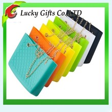 Hot sale new arrival unique silicone long chain bag for ladies