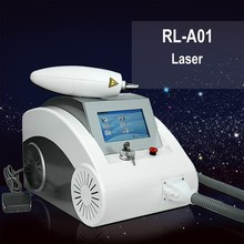 2015 hot sale salon use q switched nd yag laser tattoo removal machine