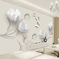 Black Photo Wallpaper for Walls 3D Soft Silk Murals Modern Abstract Wall Paper for Living Room Decor Painting