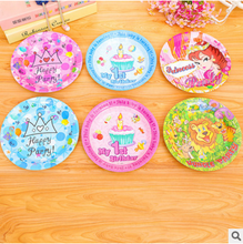 Candles Cakes Gifts Balloons Patterns Printed Sizes Party Paper Plate Tray