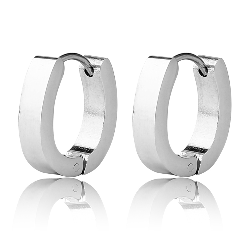 wholesale india jewelry surgical steel hoop earrings for boys