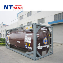 20' shipping transport stainless steel heated iso tank container