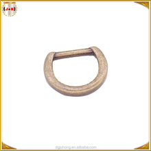 New Arrival Antique Brass Metal Alloy Custom Made D Ring Backpack Strap Adjuster