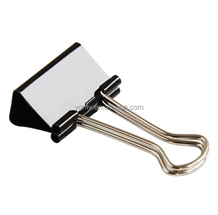 41 mm office supplies tight black colored binder clip anti - tailed swallowtail