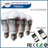 WIFI phone app control E27 9w smart A19 hue light bulbs