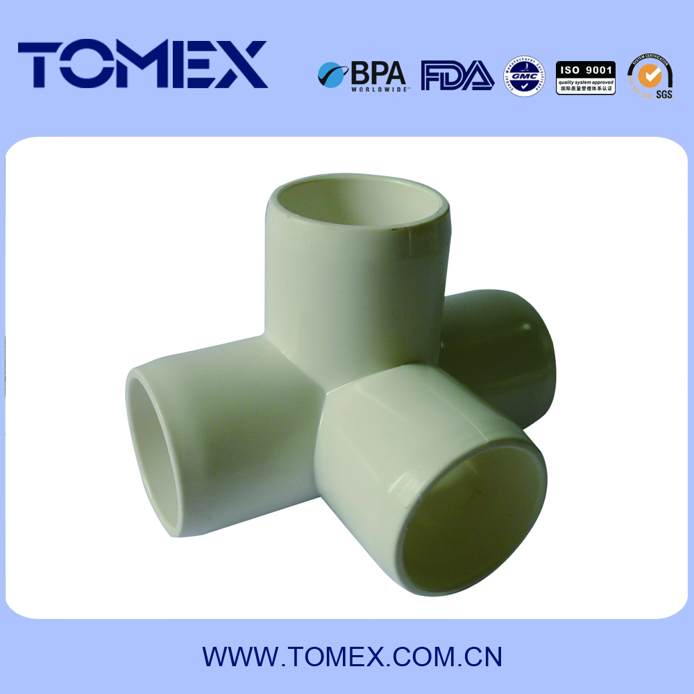 china supplier wholesale products plastic 4-way pvc fittings