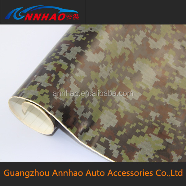 Car Decal Auto Adhesive Vinyl Roll 1.52*30m with Bubble Free Vinyl Car Wrap Camouflage