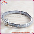 wholesale cheap free sample grey boy's girl's leather bracelet bangle