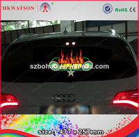 2014 new car led sticker/sound activate car sticker/3d led car logo stickers light