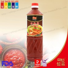 1L hot sauce red chili sauce used for restaurant and hotel wholesale retail