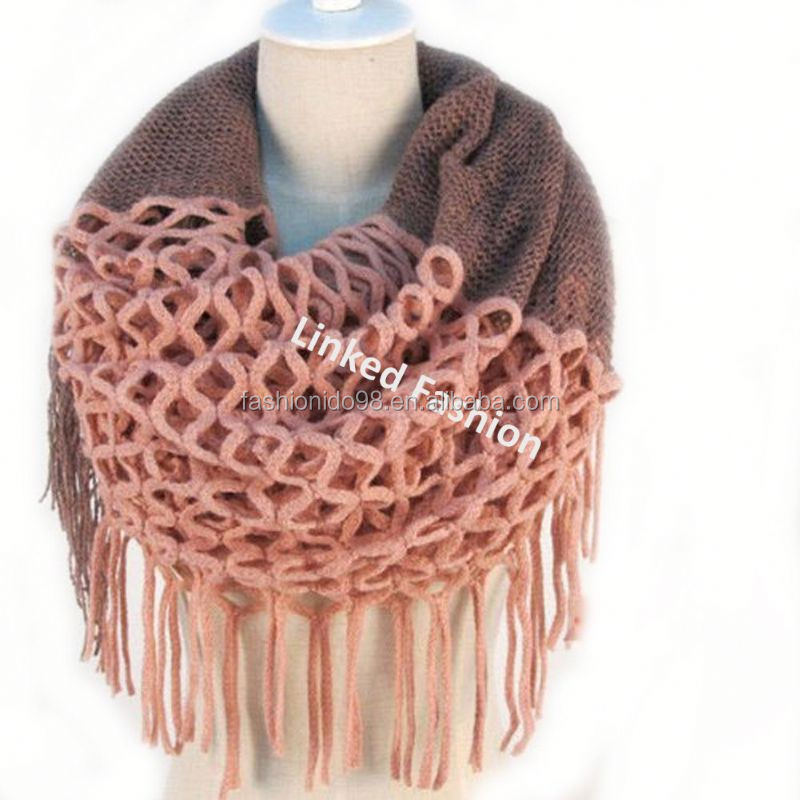 China manufacture 2015 knit scarf knit fan scarf for women