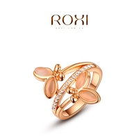 ROXI Austrian Crystal Butterfly Cat Eyes Opal Ring Exquisiteness Jewelry Rings For Women