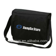 Black crossbody shoulder courier bag with 420D