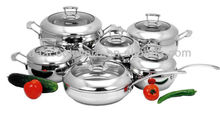 12Pcs 18/8 Stainless Steel Cookware Set