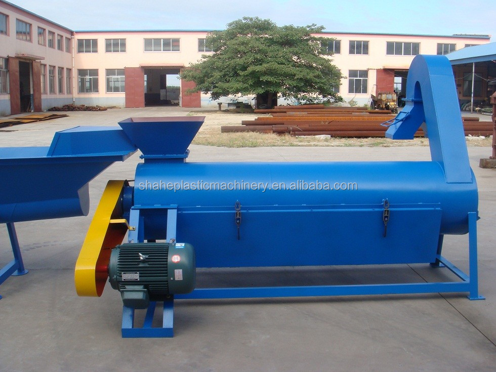 Waste bottles PET plastic recycling machine/waste plastic crushing washing drying line