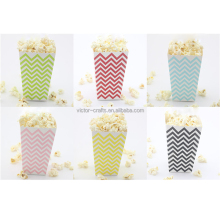 2018 Wholesale Colorful Chevron Color Paper Popcorn Box In Stock popcorn box