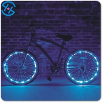 LED Tire Colorful Lights for Bikes and Cars Valve Cap/New Design Bicycle Wheel Led Flash String Lights 2M
