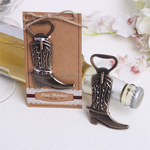 Anchor design Alloy Cowboy Shoes Boots Beer Bottle Opener Brown for birthday party