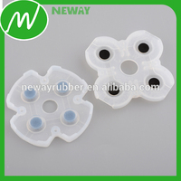 2016 Small Soft Conductive Rubber Buttons with Conducttive Pill
