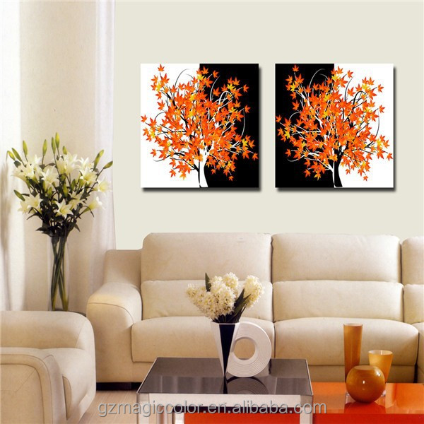 tree pattern decorative painting for living room