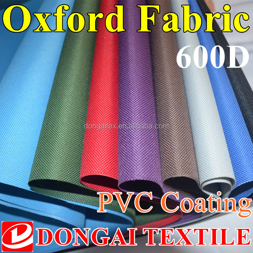 waterproof pvc coated 600d oxford <strong>fabric</strong> for bag tent