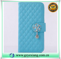 Low price China mobile phone accessories camelia design pu leather stand case for iphone 4s wallet flip cover with card holder