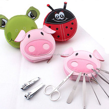 Cute animal pocket manicure set, Daily personal care 6pcs,Various shapes