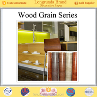 Longrunda Furniture surface Colorful Wood grain Bulk Wholesale decorative paper india