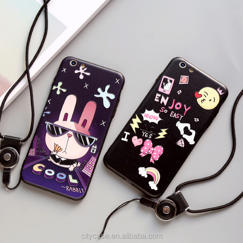 CITYCASE Fashion rabbit Soft TPU back phone cover for iphone 6 case cover , phone case for iphone 6s