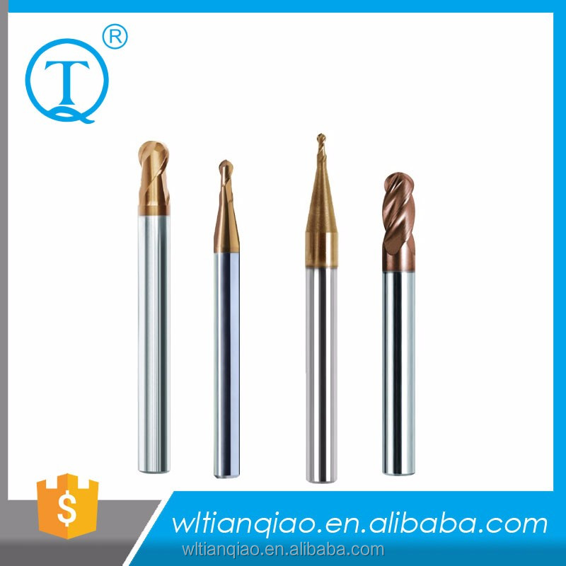 Tungsten Carbide 4 Flutes Spherical Endmill Cutter/Ball Nose Shell Cutter