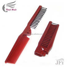 Personalized Hair Comb and Brush Set, Antistatic Plastic Folding Comb for Traveling