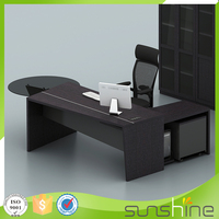 KB-MED03 MDF Wholesale Office Furniture Industrial Style Office Desk Curved Working Table Price