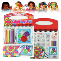 New customized spiral drawing set for kids play in airplane
