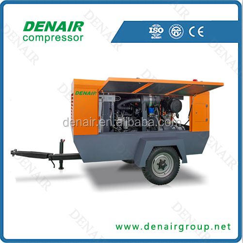 Denair diesel portable air compressor for sandblasting machine