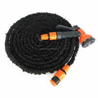 Expandable water hose pipe cleaning nozzle for custom length garden hose