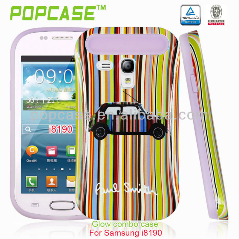 2 in 1 glow case for samsung galaxy s3 mini