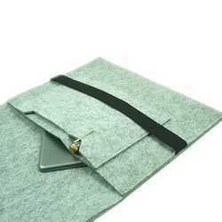 Custom cheap eco friendly leather cover felt laptop sleeve case for macbook