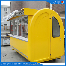 mobile kitchen trailer for fast food / mobile fuel trailer /coffee food vehicle with sliding window