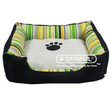 Paw print dog beds Canvas Puppy Cot Sherpa Dog Cot Euro Standard Pet Cot
