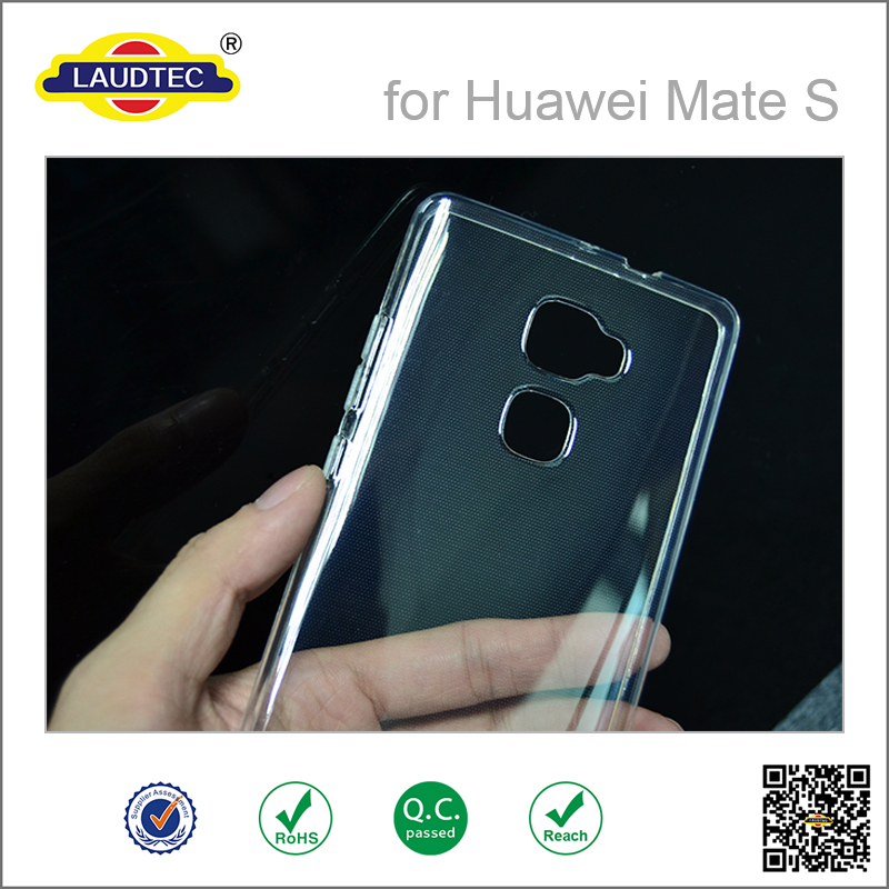 Transparent tpu phone case for huawei mate s , soft clear gel case