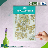 Factory supply custom design self adhesive removable decorative home acrylic 3d wall stickers